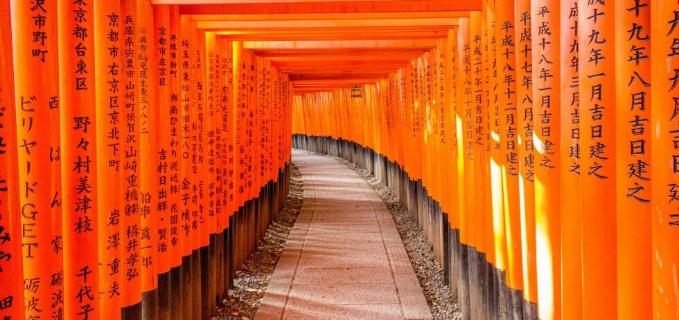Red gate shrine beautiful kyoto japan sites for Japanese gates pictures